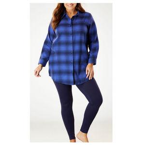 Dreams Co 2pc Flannel & Leggings Pajama Set 1X